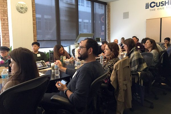 Lunch and Learn Attendees at Cushing