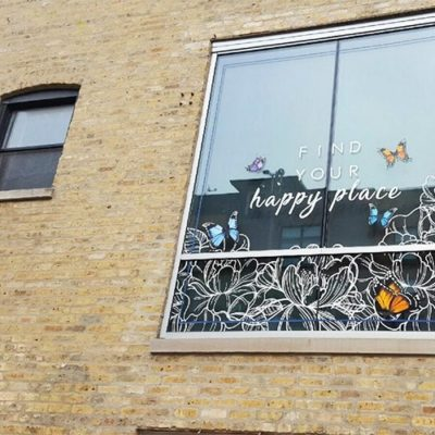 Find Your Happy Place Window Graphics