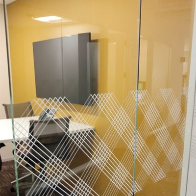 CBRE Privacy Film Meeting Area