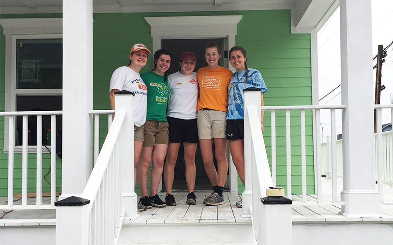 Giving Back In The Big Easy 9 Group on Porch