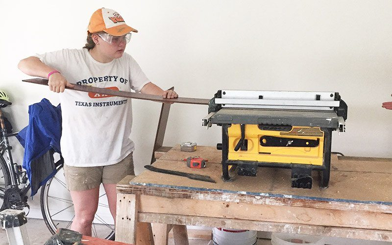 Giving Back In The Big Easy 8 Sawing