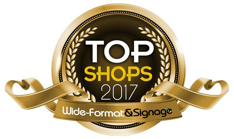 Cushing Named A Wide Format and Signage Top Shop for 2017