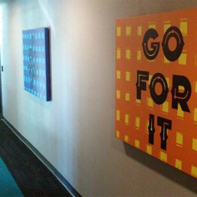 Canvas in an Economical Way to Brighten Hallways