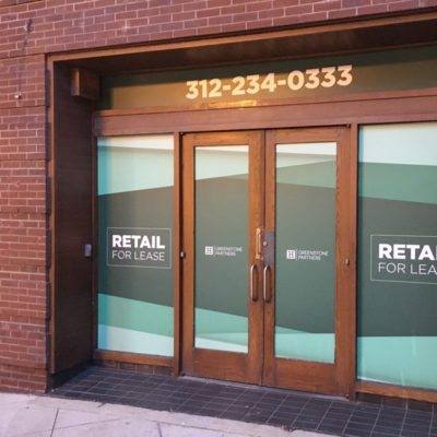 Greenstone Partners Front Door Window Graphics