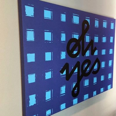 Canvas Print Installed in Apartment Building