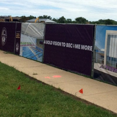 Fence Wrap at Loyola Academy