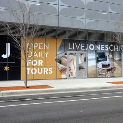 Lives Jones Leasing Window Graphics