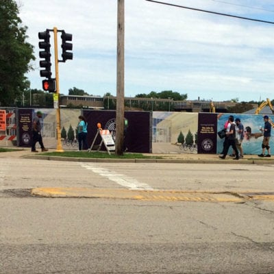 Wide Image of Loyola Fence Wrap Graphics