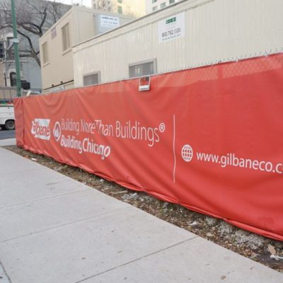 Gilbane Mesh Banner Side View
