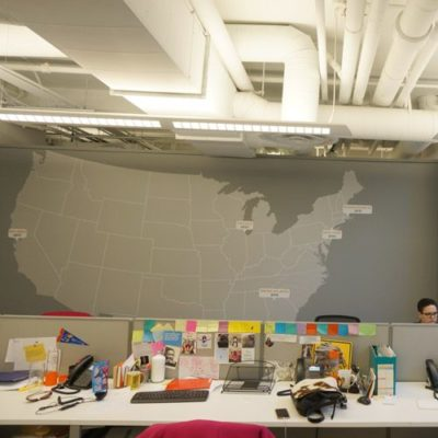 Map Wall graphic at One Goal