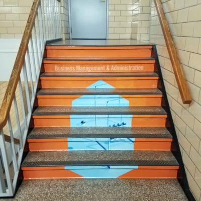 Stair Graphics in High School