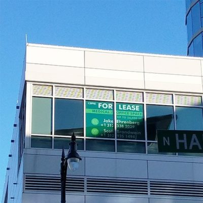 CBRE For Lease Window Graphic