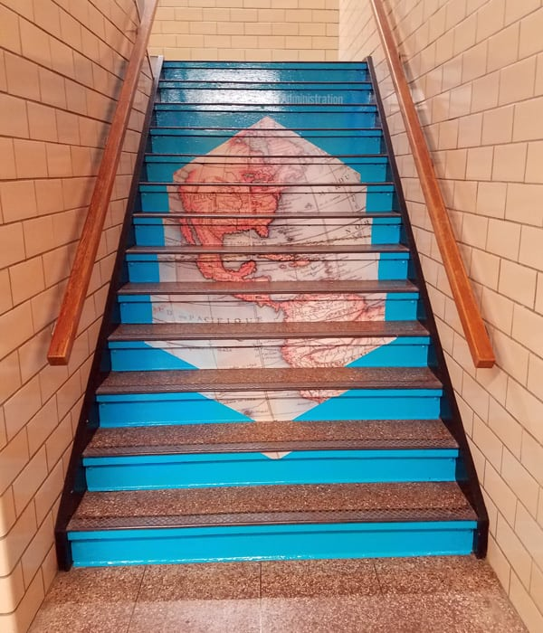 Educational Stair Graphics at High School