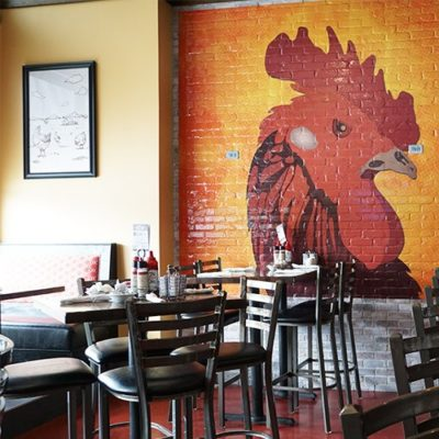 Honey Jam Frame and Rooster Wall Graphic