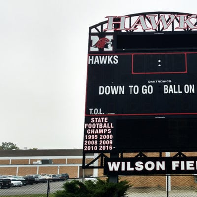 Maine South Hawks Scoreboard Graphics