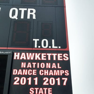 Maine South Scoreboard Hawkettes Graphics