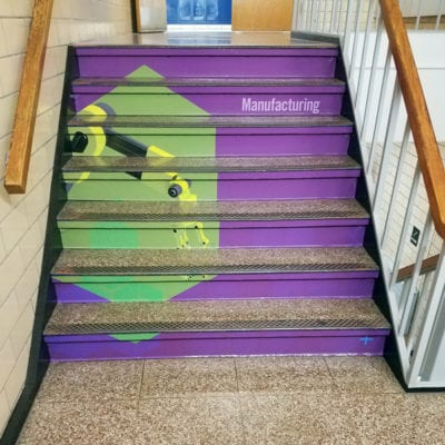 Colorful and Creative Graphics for Staircases