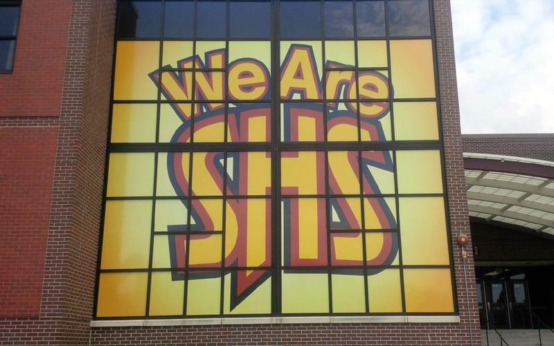 Schaumburg high school window graphics