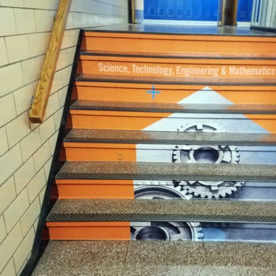 Stair Graphics at Prospect High School