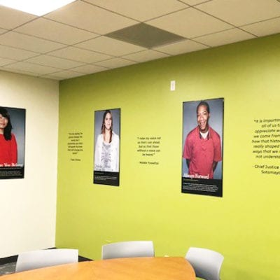 Student Photos and Wall Graphics Oakton Community College