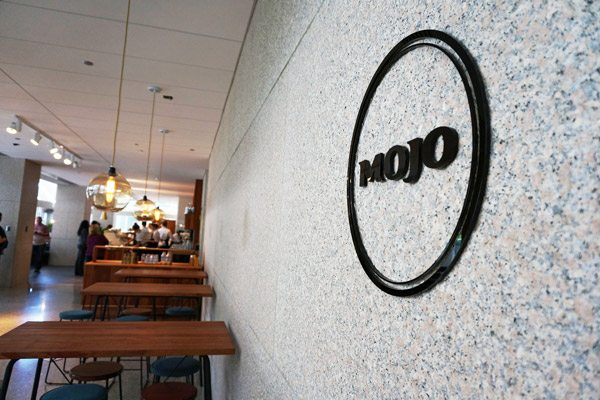 Dimensional Lettering Installed at Mojo Coffee