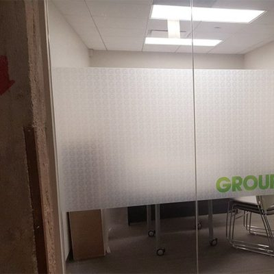 Privacy Film Window Graphic for Groupon