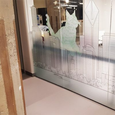 Printed, Custom Cut and Installed Privacy Film