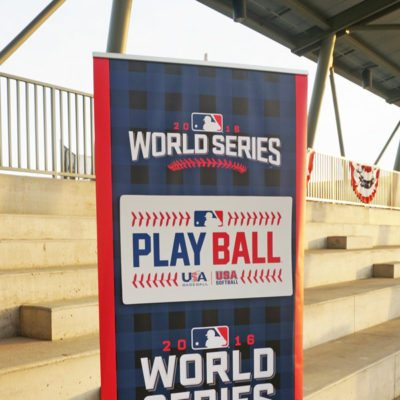 MLB Banner Stand