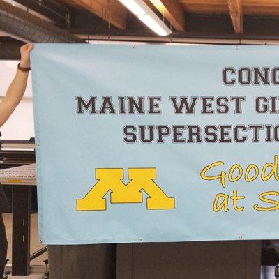 Maine West School Banner