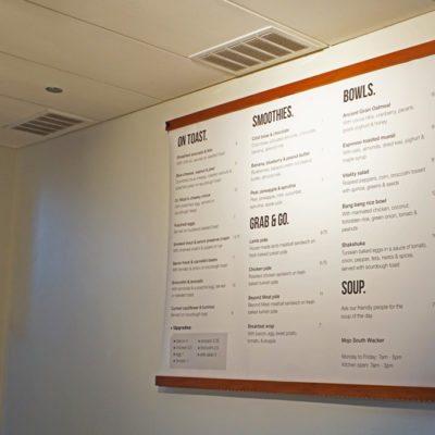 Menu Boards at Mojo Coffee on Wacker Drive