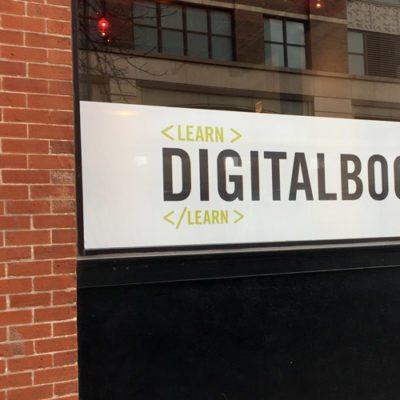 Digital Bootcamp Storefront Window Graphic