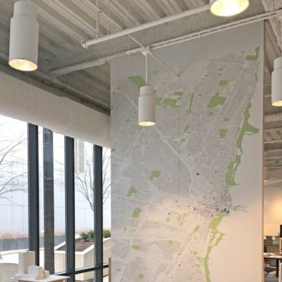Map Graphics on Wall at BKL Architecture