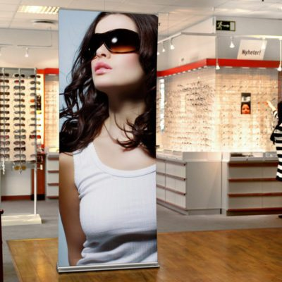 Banner Stand In Retail Environment