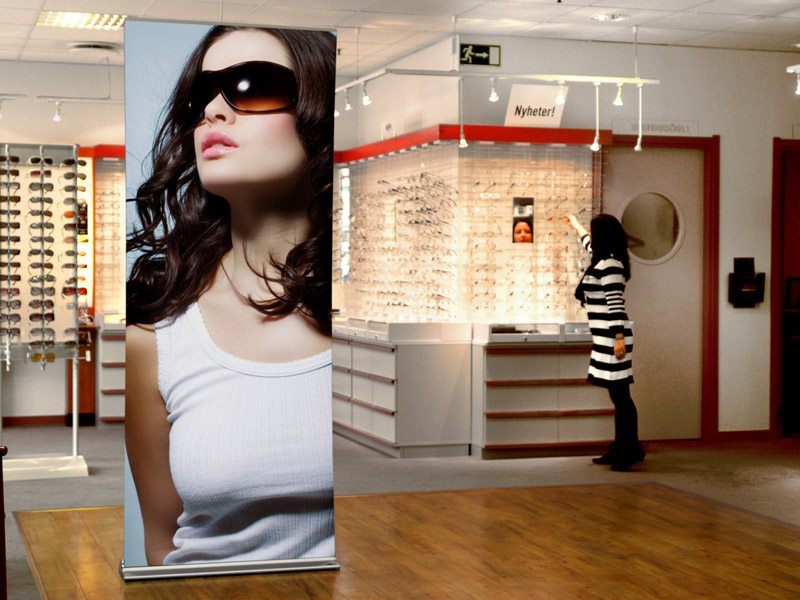 Banner Stands Brand Retail Interiors