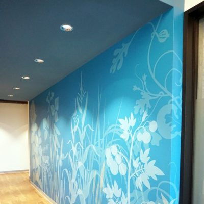 Office Wall Graphics at Syngenta (Side View)