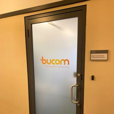 Bucom Printed Privacy at Front Door Entrance