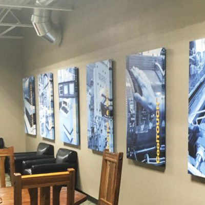 Row of Branded Canvas Prints at Process Technologies