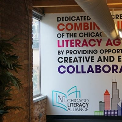 Large Wall Decal at Chicago Literacy Alliance
