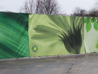 Close Up of Cantigny Fence Wrap