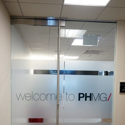 Office Entrance Privacy Film