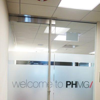 Front Door Privacy Vinyl at PHMG