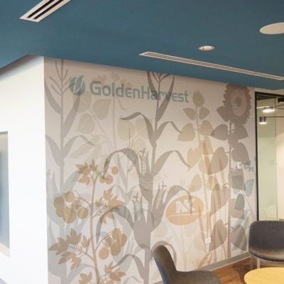 Side View of Waiting Area Wall Graphics