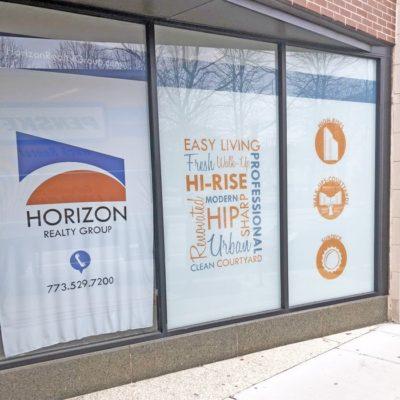 Horizon Realty Window Signage