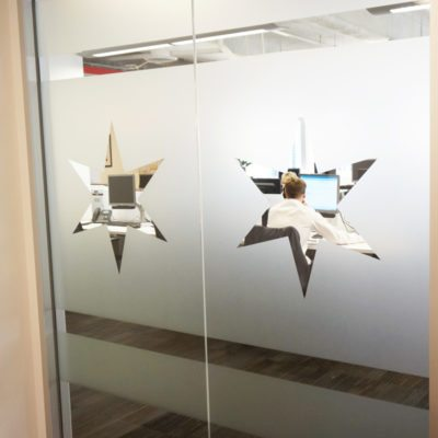 Individual Office Decorative Window Film at PHMG