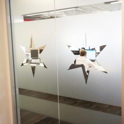 Custom Cut Office Decorative Window Film at PHMG