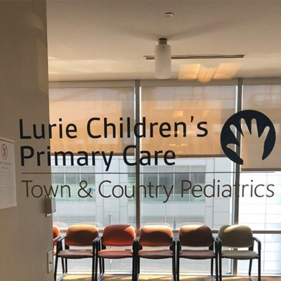 Luries Primary Care Window Graphic