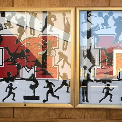 Close Up of Frames Installed at Maine South