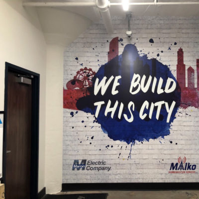 Maron Electric Vertical Wall Graphics