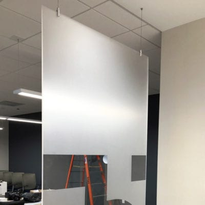 Privacy Decal in Office Setting
