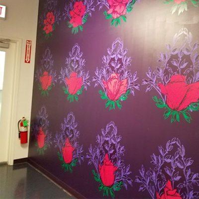 Roses Wall Graphic Vosges Haut Chocolat